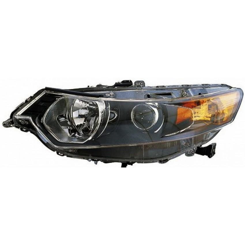 הונדה אקורד 08-12 פנס ראשי ימין חשמלי+מנוע איתות צהוב