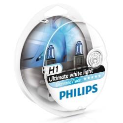 סט נורות - Philips DiamondVision H1 אפקט קסנון  צבע לבן  5000K